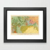 Vintage Southwest Map Framed Art Print