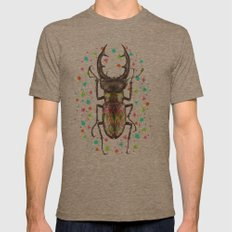 INSECT IV Mens Fitted Tee Tri-Coffee SMALL