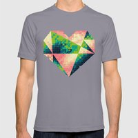 A Heart Is Made Of Bits … Mens Fitted Tee Slate SMALL