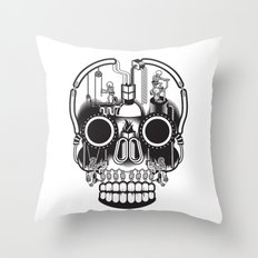 The daily grind Throw Pillow