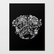 Botanical Garden Pug Canvas Print