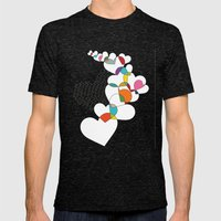 I Love You Mens Fitted Tee Tri-Black SMALL