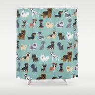 GERMAN DOGS Shower Curtain