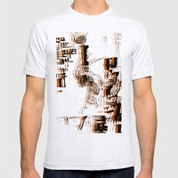 Illustration Mashup Mens Fitted Tee Ash Grey SMALL