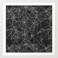 Spiderwebs - Webs In Bla… Art Print