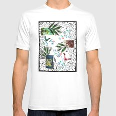 Through the jungle web White SMALL Mens Fitted Tee
