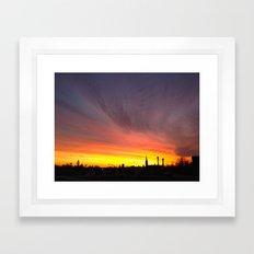 40 Foot Sunset Framed Art Print