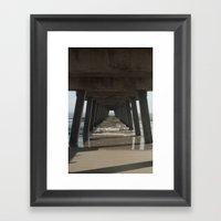 Tybee Island Beach, Sava… Framed Art Print