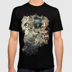 Forest Lake Dreams SMALL Mens Fitted Tee Black