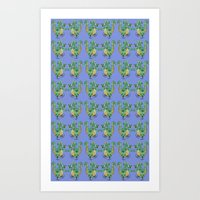 Dragon pattern Art Print