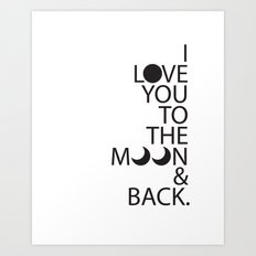 I Love You To The Moon Baby Art Print