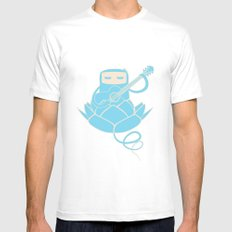 Lotus&Guitar SMALL Mens Fitted Tee White