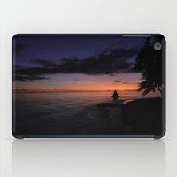 SUNSET IN MALDIVES iPad Case