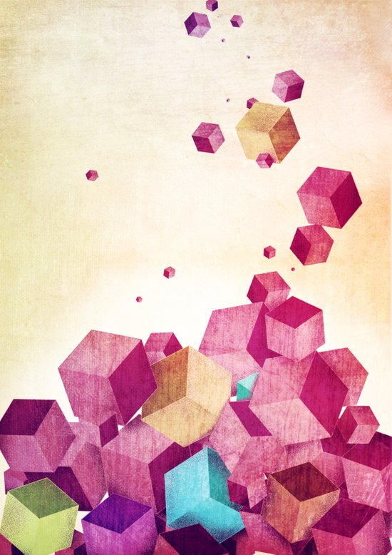 color cubes Art Print