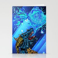 blue dragon fire artist Stationery Cards