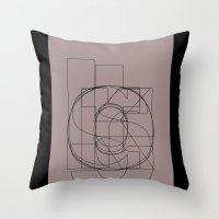Die Neue Haas Grotesk (D) Throw Pillow