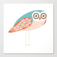 Long Legged Owl Canvas Print