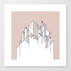 #345 For here we have no lasting city, but we seek the city that is to come. – Geometry Daily Canvas Print