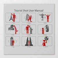 Tourist Shot User Manual Canvas Print