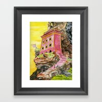 Red Mountain Framed Art Print