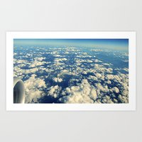 Flying Over Mountain Top… Art Print