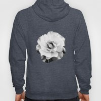 Black and White Rose Blossom... Hoody