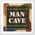 Man Cave Fishing Art Print