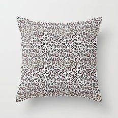 Leopard print rose quartz pantone color minimal animal print cute children pattern cheetah spots  Throw Pillow