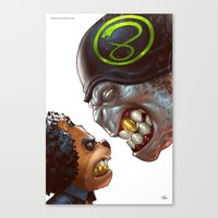 Bo: Plushy Gangsta variant cover Canvas Print