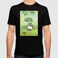 My Friend From Japan Mens Fitted Tee Black SMALL