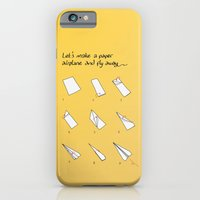 iPhone & iPod Case featuring Paper Airplane by Altay
