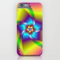 Whirligig in Yellow Blue and Green iPhone 6 Slim Case