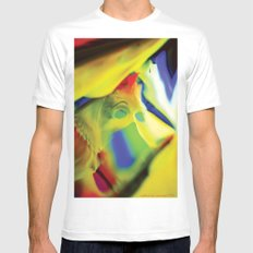 Manifestation in Yellow Mens Fitted Tee White SMALL