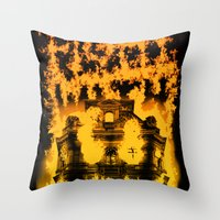 Fight With Fire Throw Pillow