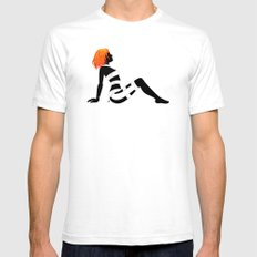 Leeloo Dallas Mudflap White Mens Fitted Tee SMALL