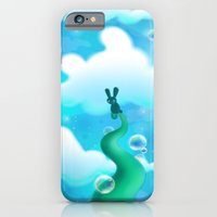 iPhone & iPod Case featuring Beanstalk Bunny by MindyLouHagan