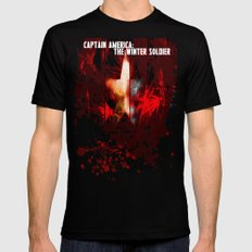 Captain America: The Winter Soldier Mens Fitted Tee Black SMALL