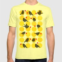 Birdsong Yellow Mens Fitted Tee Lemon SMALL