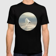 Free Falling Dream SMALL Black Mens Fitted Tee