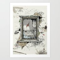 IF THESE WALLS COULD TAL… Art Print