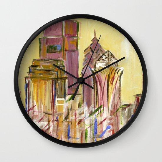 Philadelphia Skyline Wall Clock