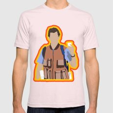 Bobby Boucher: Waterboy Mens Fitted Tee Light Pink SMALL