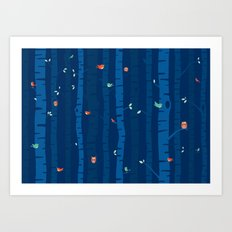 Night Trees Art Print