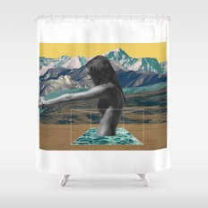 The Girl On The Mountain Shower Curtain