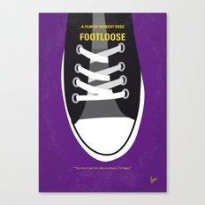 No610 My Footloose minimal movie poster Canvas Print