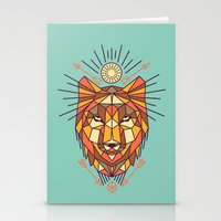 Geometric Wolf Stationery Cards