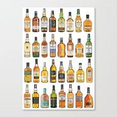 Single Malts Canvas Print