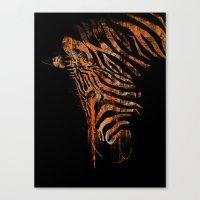 Zebra Mood Canvas Print