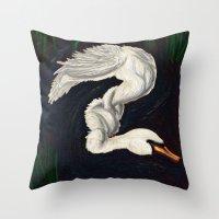 Gwen was a Swan Throw Pillow