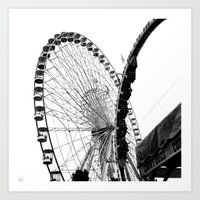 At The Fair: Round And R… Art Print
